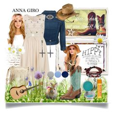 """Spring is here!"" by annagiro ❤ liked on Polyvore featuring Retrò, AG Adriano Goldschmied, Dorothy Perkins, Jean-Paul Gaultier, Charlotte Russe, Ariat, Bling Jewelry, CARGO, Burberry and Burt's Bees"