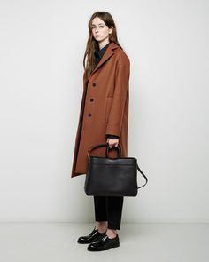 Look of the Week: An offering of auburn shade & assorted Italian leather from Jil Sander's latest arrivals. Shop the look>