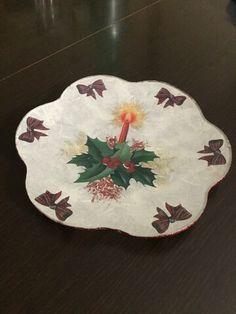 Piatto in vetro: decorazione natalizia sottovetro. By Vale Decò