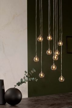 Hanging lamp: ten, or twenty lights. Find your favourite version and finishing here.