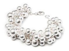 "Kelim Design ""bubbles"" sterling silver with satin finish bracelet Jewelry Show, Jewelry Stores, Jewelry Art, Jewelry Design, Jewelry Making, Modern Jewelry, Custom Jewelry, Handmade Jewelry, Crown Wedding Ring"
