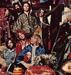 Jim Morrison, Pamela Courson & Friends
