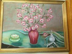Vintage 1930s Deco Pink Green Floral by VansVintageTreasures
