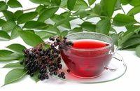 CZARNY BEZ na PRZEZIĘBIENIE: herbata i sok z czarnego bzu