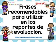 Frases recomendables para utilizar en los reportes de evaluación- (1)