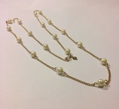 Sarah Coventry gold tone faux pearl Patrician by BerlyDesigns