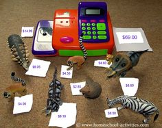 Playing shop is one of the most fun kids math activities you can find.