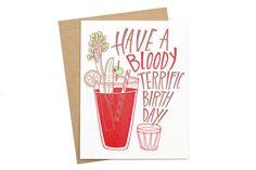 Bloody Birthday Card   Moorea Seal