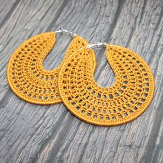 Crochet brown bronze hoop earrings, Crochet Hoop Earrings, Silver Plated Drop Earrings, Boho Womans Accessory