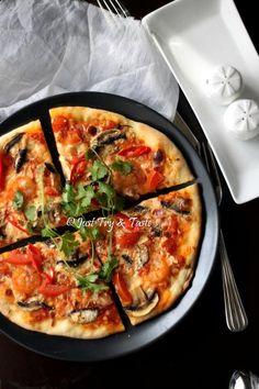 Vegetarian Pizza Jamur dengan Simple Sauce