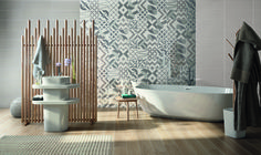 Flou is a contemporary white body wall tile with glossy shades, geometric surfaces and fashion colors, enhanced with original decorative tiles. Flou is the perfect collection to complement your project in a minimalist way, while creating a great living space. Bathroom Inspiration, Home Decor Inspiration, Exterior Design, Interior And Exterior, 2018 Interior Design Trends, Decorative Tile, Clawfoot Bathtub, Home Renovation, Wall Tiles