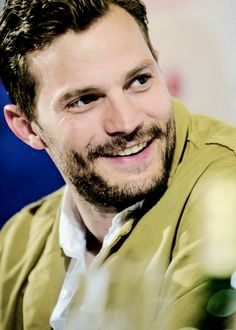 Jamie Dornan and that gorgeous smile answering questions during the Anthropoid Press Conference in the Czech Republic. July 09 2015 http://www.everythingjamiedornan.com/gallery/thumbnails.php?album=33 https://www.facebook.com/everythingjamiedornan/?ref=aymt_homepage_panel