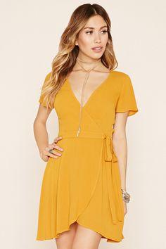 Chiffon Self-Tie Wrap Dress