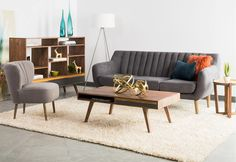 Image result for mid century living room