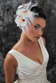 Wedding veil fascinator for birdcage veil! Loveeee!