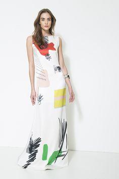 Vestido de seda Animale, 2016.