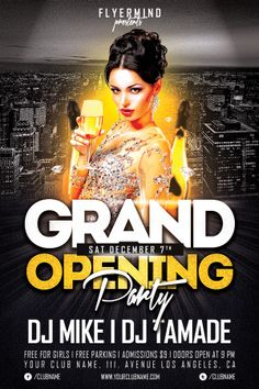 Grand Opening Party Free Club PSD Flyer Template - Download Free PSD http://www.freepsdflyer.com/grand-opening-party-free-club-psd-flyer-template/