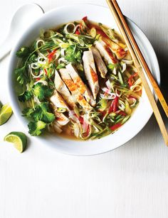 Fancy something a little lighter tonight? Our Vietnamese ginger chicken pho ticks all the boxes