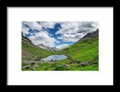 Mountaiscape with pond Framed Print by Roberto Pagani Wall Art For Sale, Hanging Wire, Fine Art America, Pond, Framed Prints, Poster, Travel, Life, Water Pond