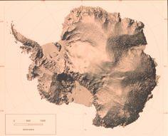 Antarctic relief map