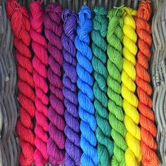 Variegated: 4-ply Superwash Bluefaced Leicester  by TheNakedSkein