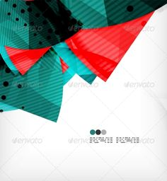 Abstract geometric shapes background semicircle round glossy pieces in modern business composition