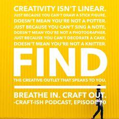 Creativity isn't lin