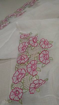 Colors & Crafts Boutique™ offers unique apparel and jewelry to women who value versatility, style and comfort. For inquiries: Call/Text/Whatsapp Cutwork Saree, Cutwork Embroidery, Hand Work Embroidery, Hand Embroidery Designs, Embroidery Stitches, Embroidery Patterns, Embroidery Suits Punjabi, Fabric Painting, Bead Art