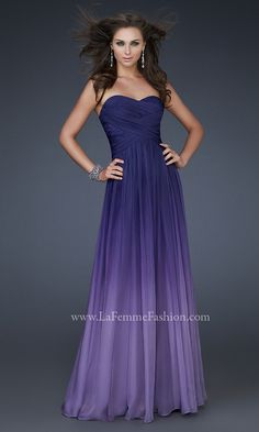 Long Strapless Ombre Gown LF-17004 ... It comes in coral...