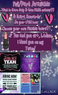 Full time and part time avaible!if yes to above and you 18+  message me :)