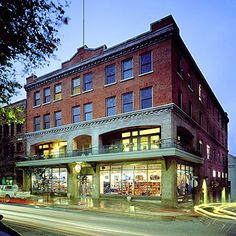 Adaptive reuse of old hotel building.