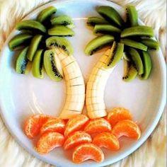 Fruit, food, banana, clementine, kiwi, vegetarian, vegan, palm tree, summer, tropical