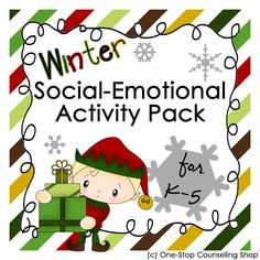 New Product :: Holiday Social Emotional Activity Pack | One-Stop Counseling Shop