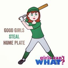 Yes, they do. And my daughter Kirstie is very, very good at stealing bases! Find this softball design: http://www.girlscantwhat.com/colorize/?id=50&snapshot=4173 #girlscantwhat #girlssoftball #softballgirls #softballgirl #softballplayer @sunnygirl426