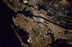 New York City at night  Taken from the International Space Station, by Col. Chris Hadfield.