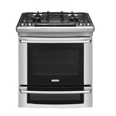 "Electrolux - EW30DS65GS - 30"" Dual-Fuel Slide-In Range w/ Wave-Touch™ Controls 