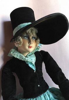 Boudoir doll from France POUPÉE de salon