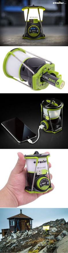 Goal Zero Lighthouse mini lantern and USB power hub adjusts brightness and direction for extended runtimes Recharge internal battery from any USB port or from Goal Zero solar panel Swap out internal battery for increased run time
