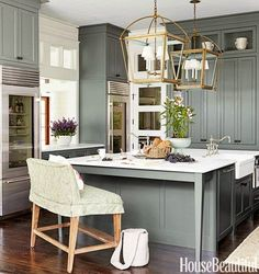 greige: interior design ideas and inspiration for the transitional home : grey in the kitchen: No. 5