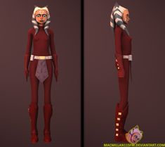 Ahsoka in the red catsuit by MacMillan11SFM