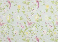 Summer Palace Cotton/Linen Fabric Duck Egg