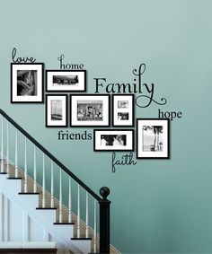 'Love Home Family Friends Hope Faith' Decal Set