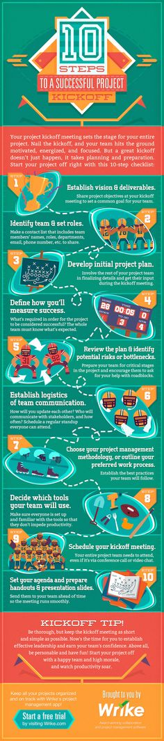 10 Steps to a Kickass Project Kickoff: A Checklist for Project Managers  [by Wrike -- via Tipsographic] #tipsographic