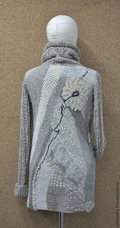 Купить Валяный свитер Овсянка, сэр)) - бежевый, авторская ручная работа, Валяние, нуновойлок