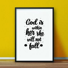 Isaiah 5512 letgodloveyou aconfidentheart devotional scripture psalm 465 god is within her she will not fall scripture printable scripture wall art bible vers fandeluxe Choice Image