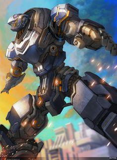 Guaro of gigantic 5 by Rettag Transformers, Mecha Suit, Mekka, Cool Robots, Sci Fi Armor, Robot Concept Art, Gundam Art, Futuristic Art, Mecha Anime