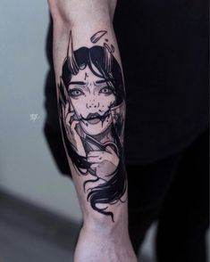 Tattoos are created by injecting ink through into the skin. Tattoo artists accomplish this by using an electric powered tattoo gun that almost sounds like the drill a dentist uses. Anime Tattoos, Body Art Tattoos, Sleeve Tattoos, Cool Tattoos, Tattoo Sleeves, Tattoos Skull, Oni Tattoo, Dark Tattoo, Japanese Tattoo Designs