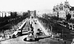Arc de Triomf i Palau de Justícia. Barcelona