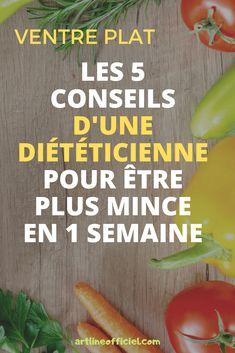 Les 5 conseils d'une diététicienne pour être plus mince en 1 semaine. Dieta Atkins, Lose Lower Belly Fat, Healthy Vegetables, Breakfast Bowls, Weight Loss Smoothies, Diet Meal Plans, Weight Loss Plans, How To Lose Weight Fast, Meal Planning