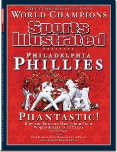 2008 Phillies World Series champions commemorative SI issue cover